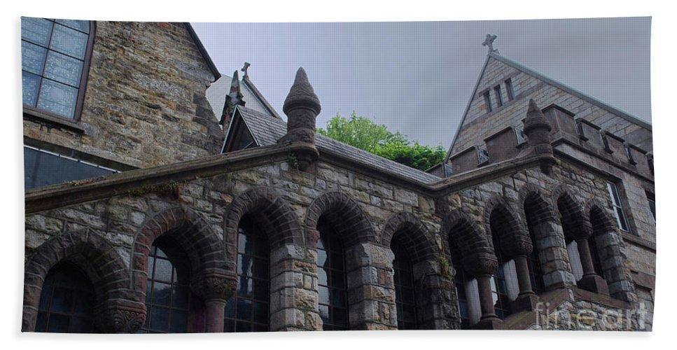 Church Hand Towel featuring the photograph Stone Church by Lori Tambakis