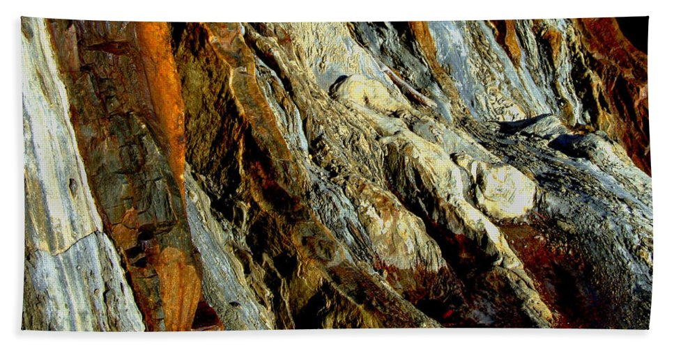 Rock Hand Towel featuring the photograph Stone History by Donna Blackhall