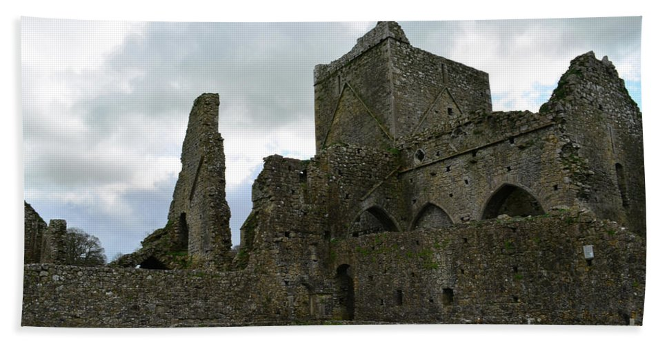 Hore Abbey Hand Towel featuring the photograph Stone Ruins Of Hore Abbey by DejaVu Designs