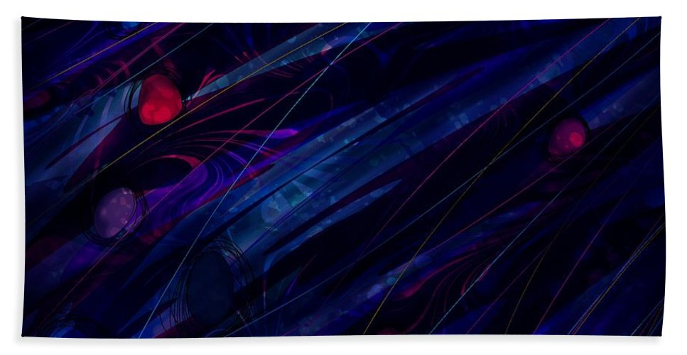 Abstract Hand Towel featuring the digital art Stoned by Rachel Christine Nowicki