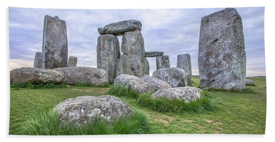 Stonehenge Bath Sheet featuring the photograph Stonehenge In England by Joana Kruse