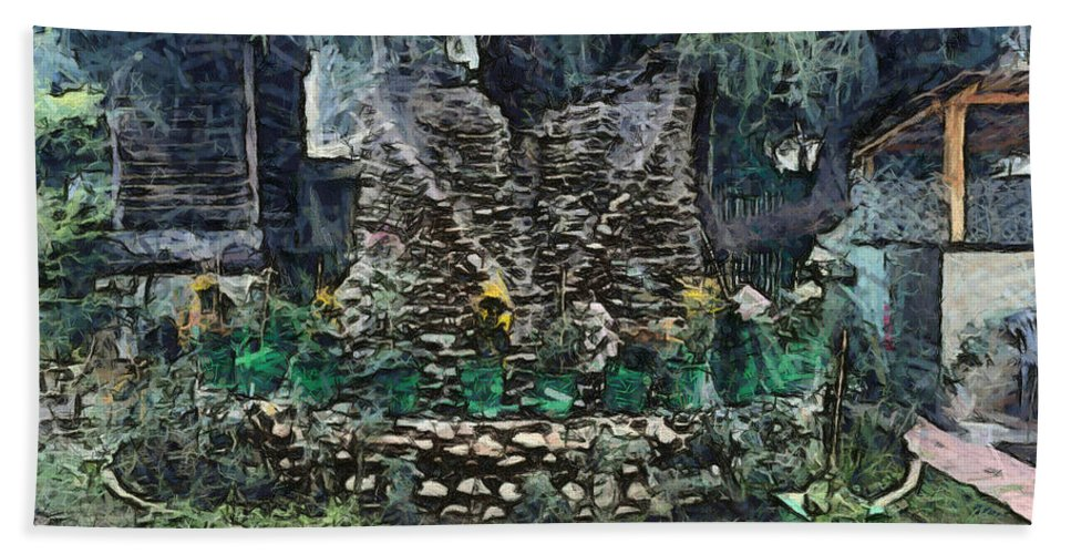 Stone Decoration Hand Towel featuring the photograph Stones To Decorate A Tree by Ashish Agarwal