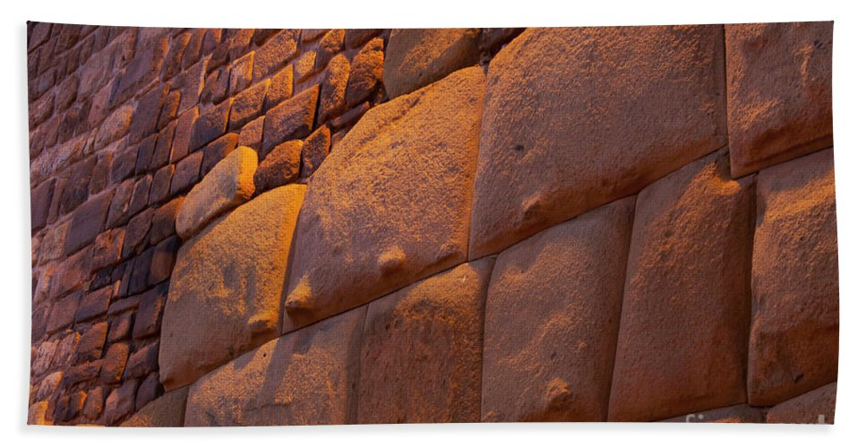 Cusco Hand Towel featuring the photograph Stonewalled by Bob Phillips