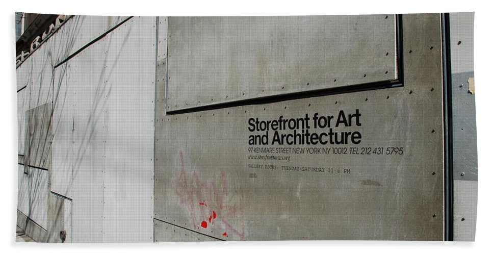 Storefront Hand Towel featuring the photograph Storefront For Art And Architecture by Rob Hans