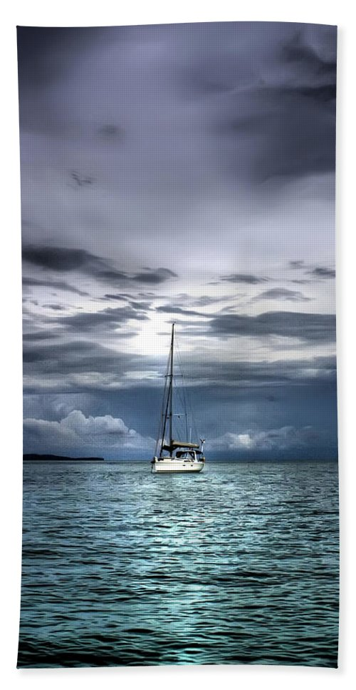 Seascape Bath Sheet featuring the photograph Storm Approaching by Dolly Sanchez