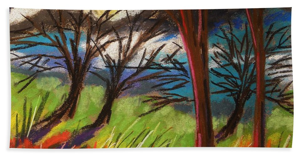 Pastes Hand Towel featuring the painting Storm Approaching Fast by John Williams