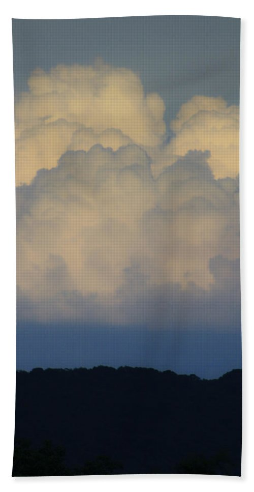 Clouds Hand Towel featuring the photograph Storm At Sunset Bluestone State Park West Virginia by Teresa Mucha