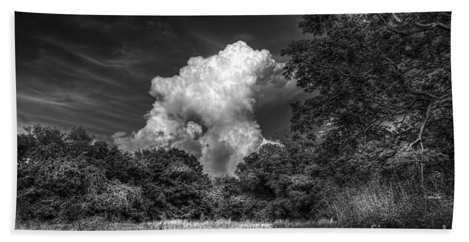 Barns Bath Sheet featuring the photograph Storm Beyond The Meadow by Marvin Spates