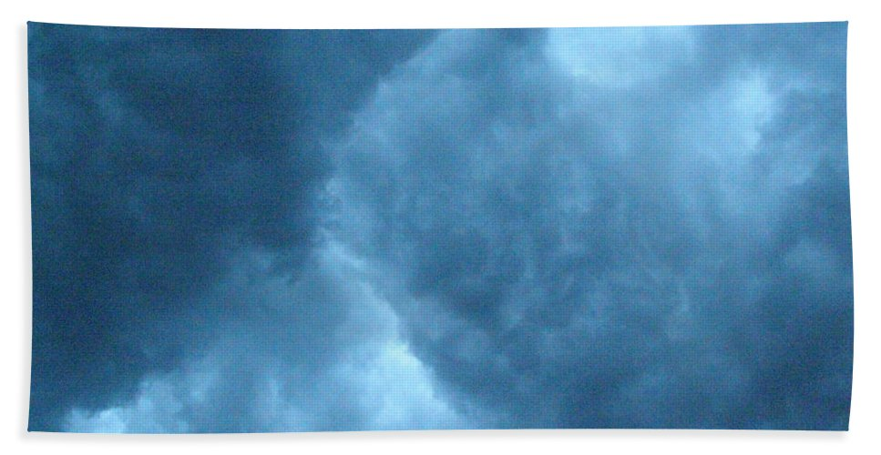 Storm Hand Towel featuring the photograph Storm Clouds by Angie Rea