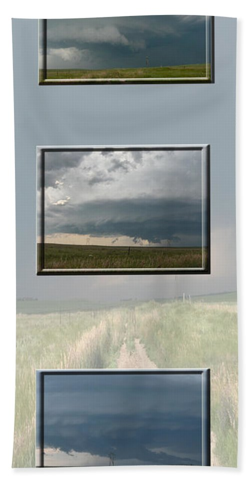 Tornado Strom Weather Rain Thunder Clouds Wind Bath Sheet featuring the photograph Storm Collection by Andrea Lawrence