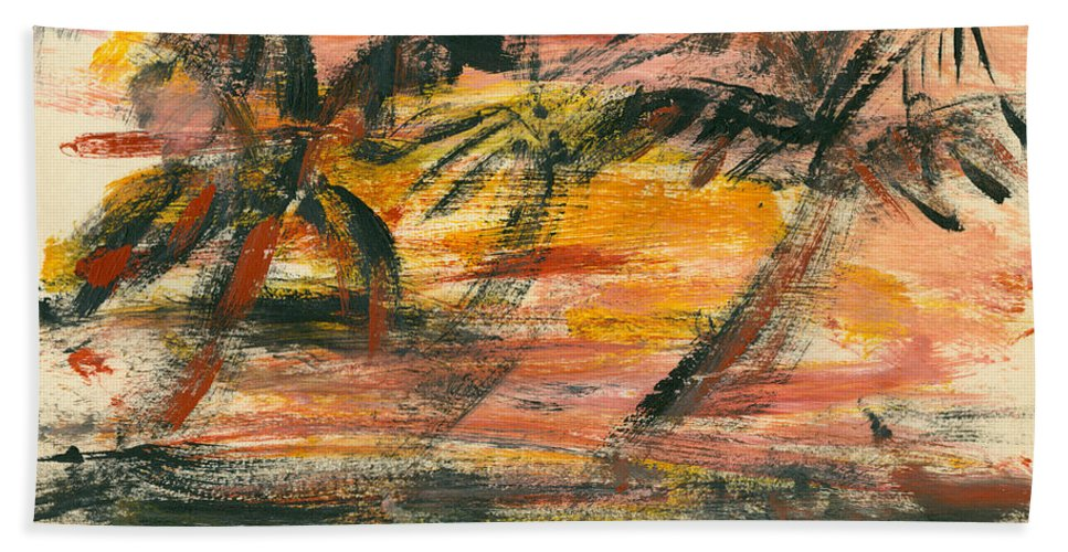 Stormy Bath Sheet featuring the painting Storm by Jorge Delara