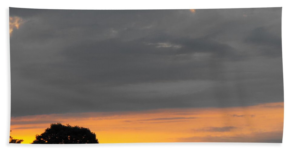 Storm Moving Out Bath Sheet featuring the photograph Storm Moving Out by Ginger Repke