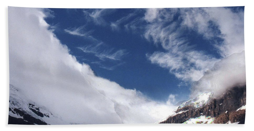 Landscape Hand Towel featuring the photograph Storm On A Glacier by Stan Roban