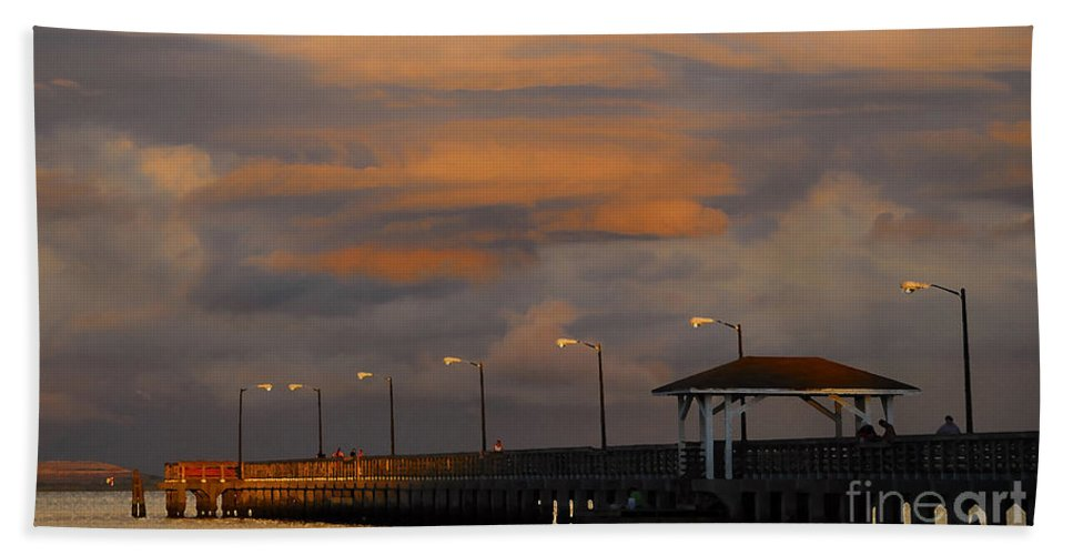 Storm Bath Towel featuring the photograph Storm Over Ballast Point by David Lee Thompson