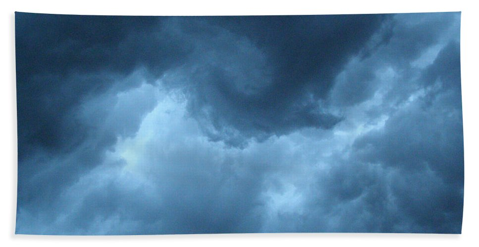 Storm Hand Towel featuring the photograph Storm Rolling In by Angie Rea
