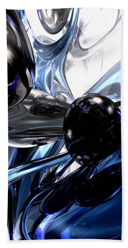 3d Hand Towel featuring the digital art Storm Shadow Abstract by Alexander Butler
