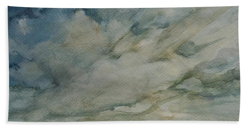 Living Room Hand Towel featuring the painting Storm Warning II by Johnnie Stanfield