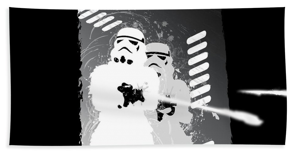 Star Wars Bath Towel featuring the digital art Stormtroopers by Nathan Shegrud