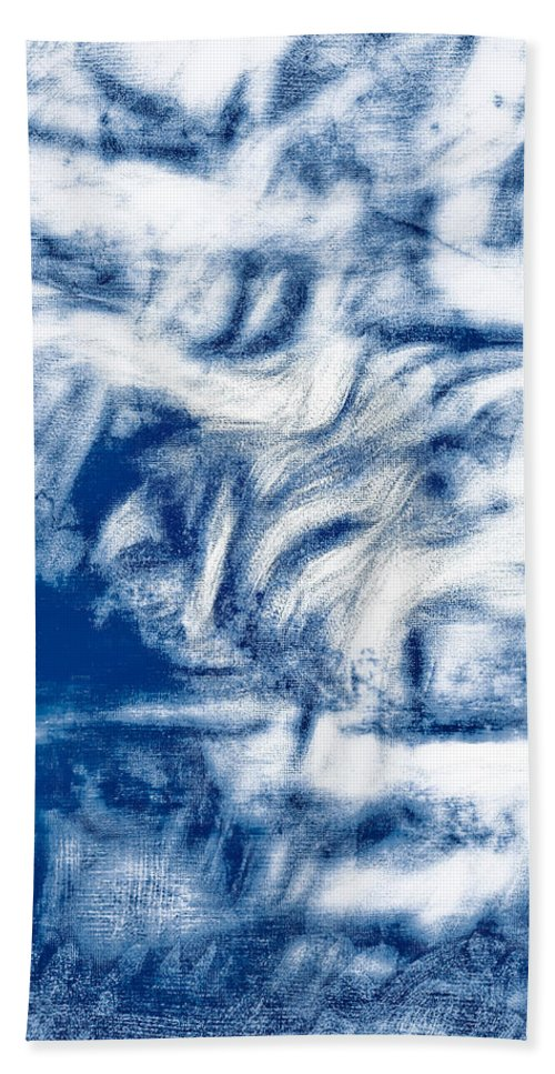 Abstract Bath Sheet featuring the photograph Stormy Abstract by Tom Gowanlock