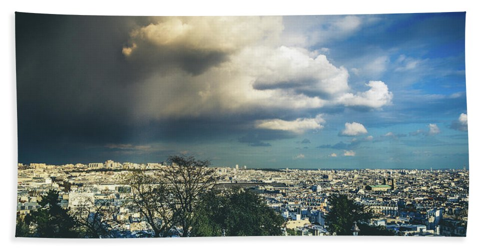 Storm Bath Sheet featuring the photograph Stormy Day by Florian LEPREST