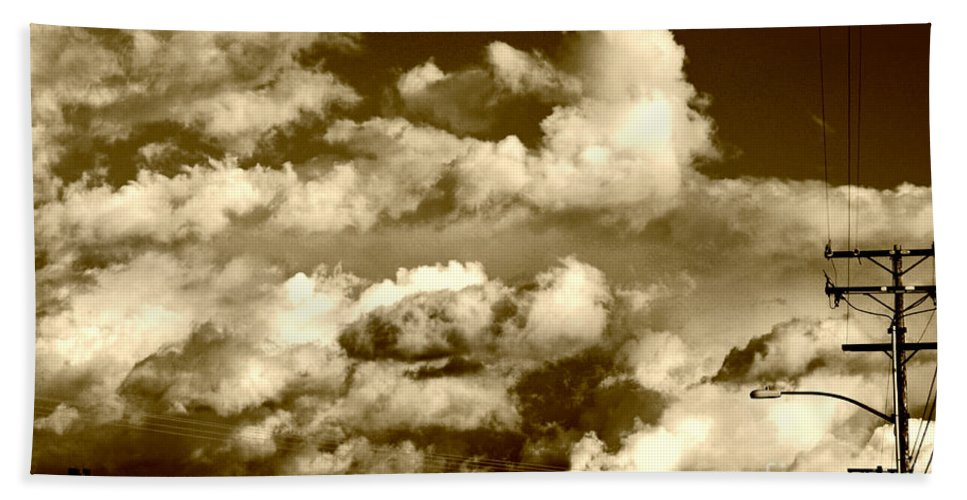 Clay Bath Sheet featuring the photograph Stormy Skies In Socal by Clayton Bruster