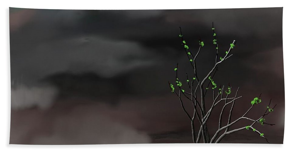 Storm Weather Hand Towel featuring the digital art Stormy Weather by David Lane