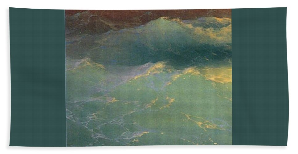 Johnny Bath Sheet featuring the painting Stormy Weather by Emin Soyugenc