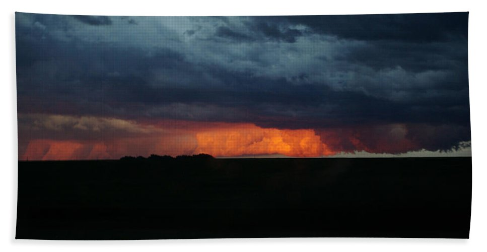 Stormy Weather Hand Towel featuring the photograph Stormy Weather by Kathy M Krause