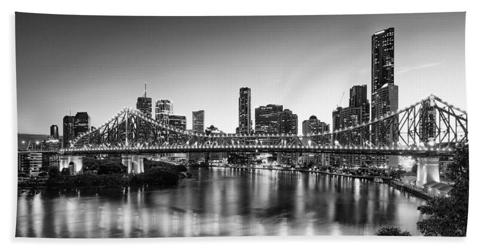 Story Bridge Bath Sheet featuring the photograph Story Bridge Brisbane by Charles King