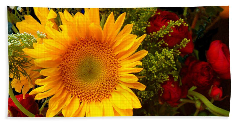 Sunflower Bath Towel featuring the photograph Straight No Chaser by RC DeWinter
