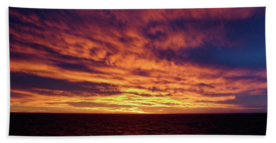 Straits Of Magellan Bath Sheet featuring the photograph straits of magellan III by Brett Winn