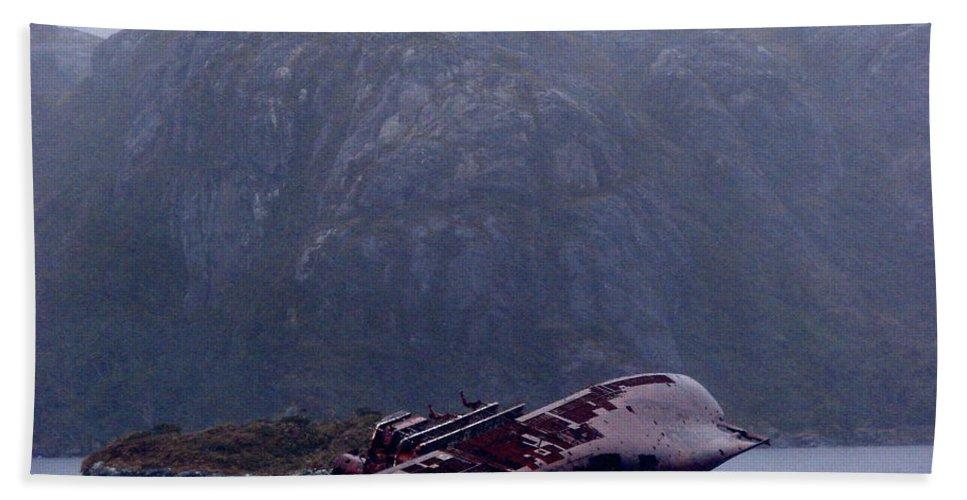 Straits Of Magellan Bath Sheet featuring the photograph Straits Of Magellan Iv by Brett Winn