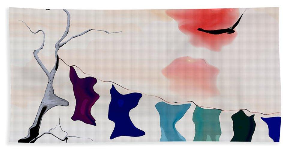 Strange Bath Towel featuring the digital art Strange Afternoon by Richard Rizzo