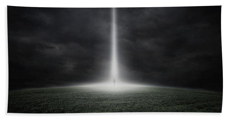 Alien Hand Towel featuring the digital art Stranger by Zoltan Toth