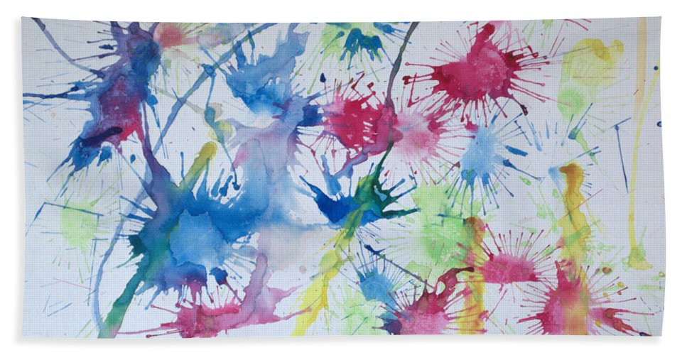 Straw Blown Painting Hand Towel featuring the painting Straw Blown by J R Seymour