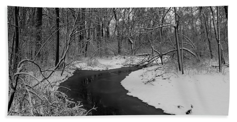 Stream Hand Towel featuring the photograph Stream by Steve Bell