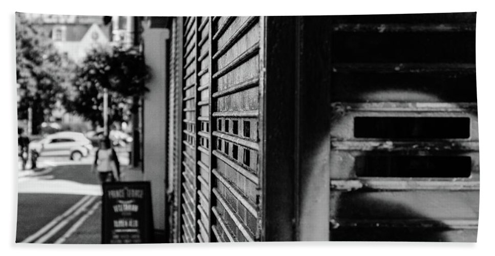 Black And White Bath Sheet featuring the photograph Street Corner by Jasper Connors