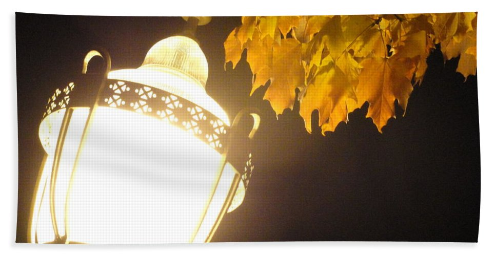 Bath Sheet featuring the photograph Street Lamp by Trish Hale