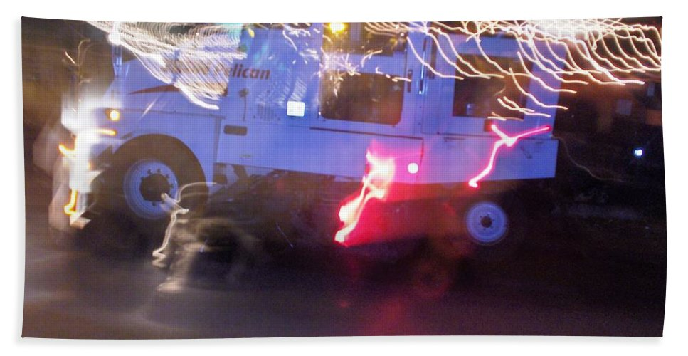 Photograph Hand Towel featuring the photograph Street Sweeper by Thomas Valentine