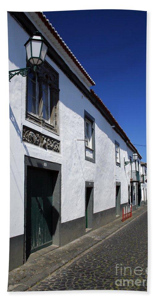 Portugal Bath Towel featuring the photograph Streets Of Ribeira Grande by Gaspar Avila