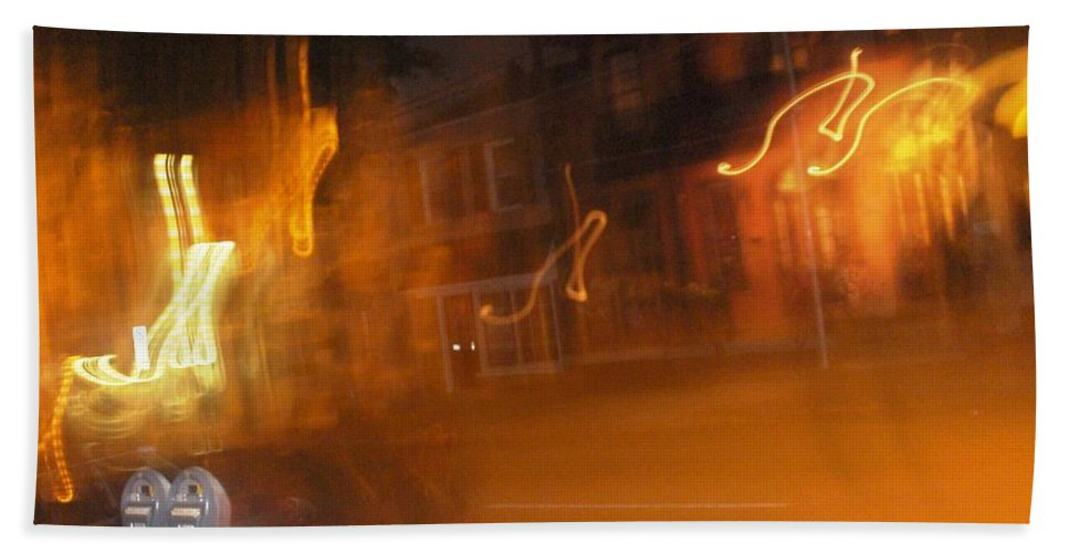 Photograph Bath Towel featuring the photograph Streets On Fire by Thomas Valentine