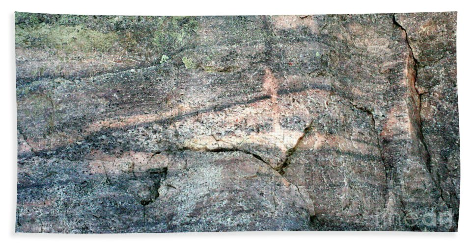 Rock Bath Sheet featuring the photograph Striations 2 by Terry Matzke