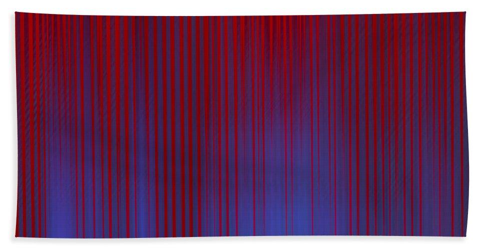 Hand Towel featuring the digital art Stripes 842 by Tim Sladek