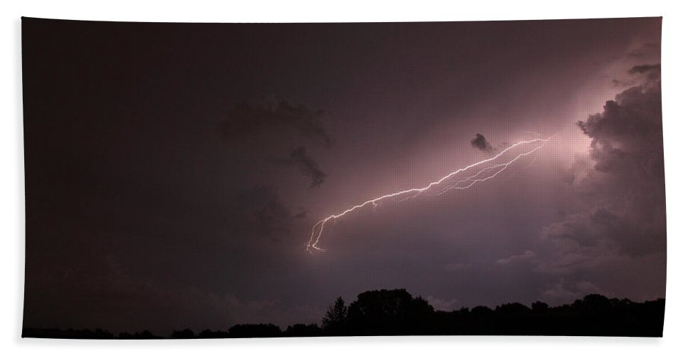 Lightning Bath Towel featuring the photograph Strong Arm by Amanda Barcon