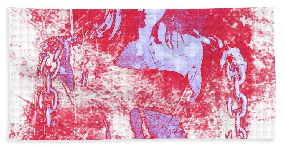 Woman Hand Towel featuring the digital art Strong Women 1 by John Novis