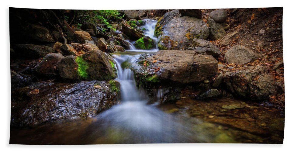 Trailsxposed Hand Towel featuring the photograph Strongs Canyon Cascades by Gina Herbert