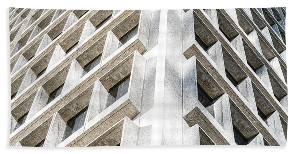 Architecture Bath Sheet featuring the photograph Structured 28 by Mark Zimmerman