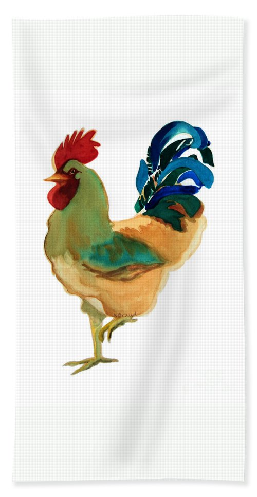 Paintings Hand Towel featuring the painting Strut Your Stuff - 6 by Kathy Braud
