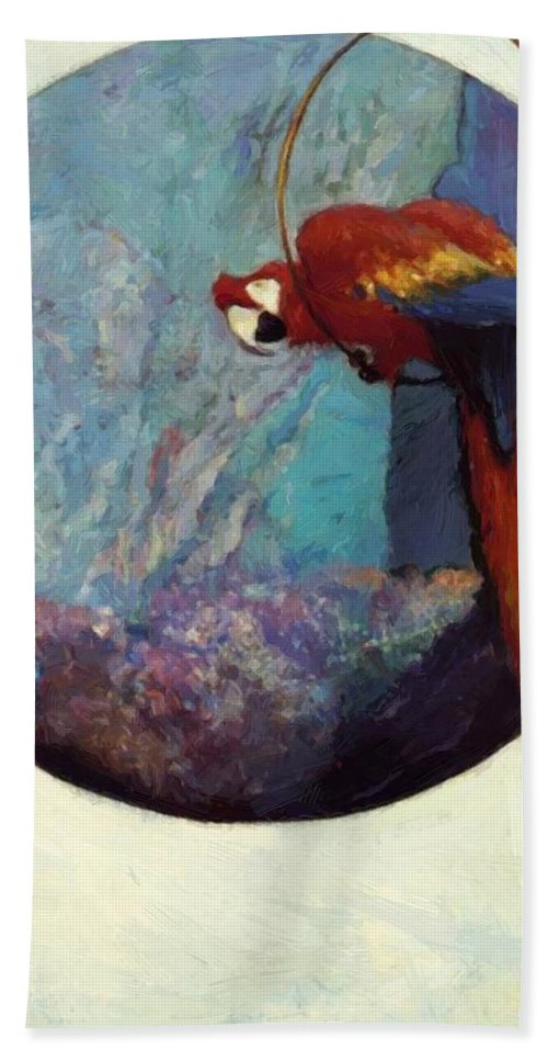 Study Hand Towel featuring the painting Study For Polly 1923 by Reid Robert Lewis