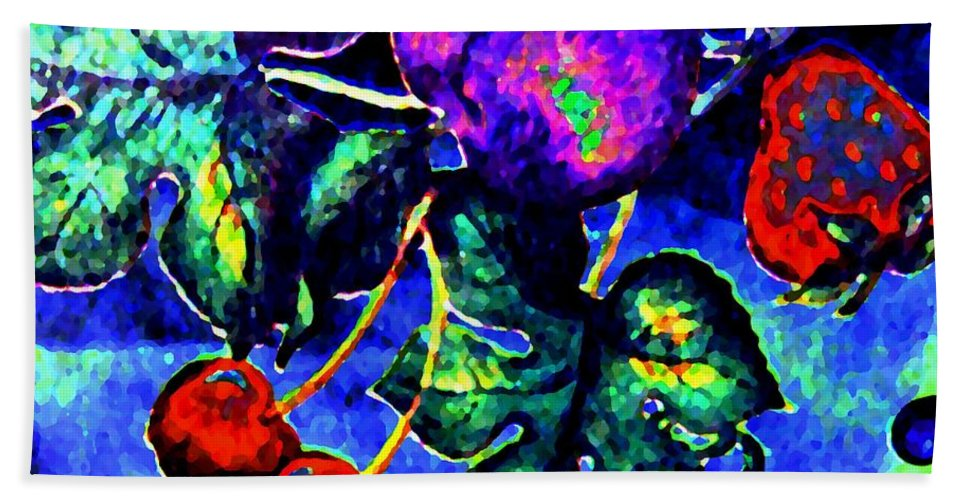 Abstract Hand Towel featuring the digital art Succulence by Will Borden